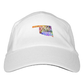 Oklahoma U.S. State in watercolor text cut out Headsweats Hat