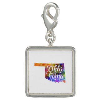 Oklahoma US State in watercolor text cut out Dije Con Foto