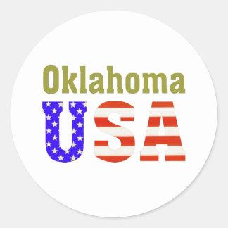 Oklahoma USA! Classic Round Sticker