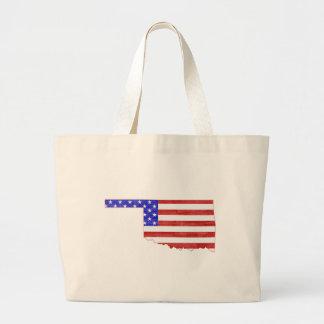 Oklahoma USA flag silhouette state map Tote Bag