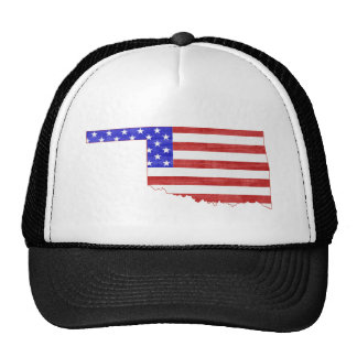 Oklahoma USA flag silhouette state map Trucker Hat