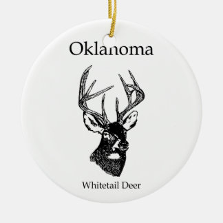 Oklahoma USA (whitetail deer) Ceramic Ornament