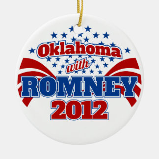 Oklahoma with Romney 2012 Ceramic Ornament