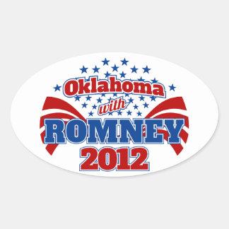 Oklahoma with Romney 2012 Oval Sticker