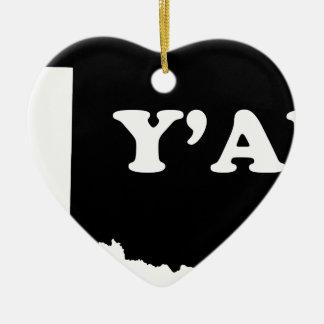 Oklahoma Yall Ceramic Ornament