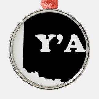 Oklahoma Yall Metal Ornament