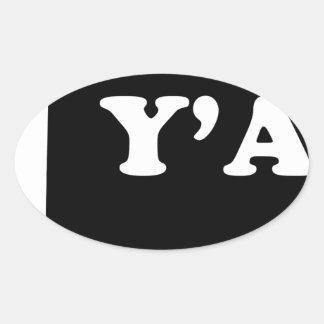 Oklahoma Yall Oval Sticker