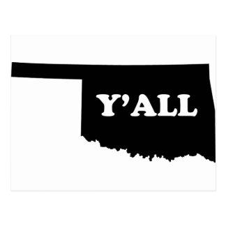 Oklahoma Yall Postcard