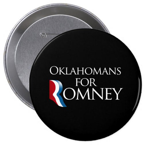 Oklahomans for Romney -.png Pinback Button