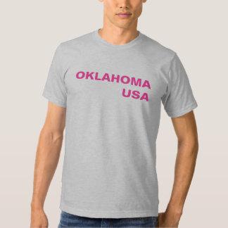 OKLAHOMAUSA - rosas fuertes en brezo gris Remera