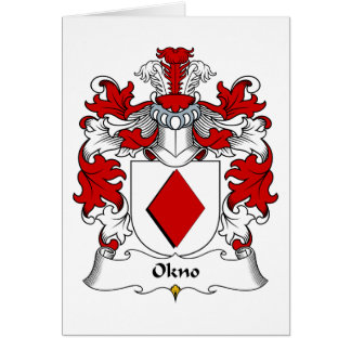 Okno Family Crest Greeting Card