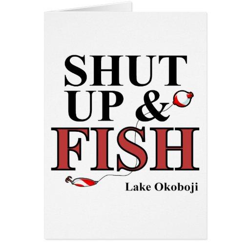 Okoboji cerró para arriba tarjeta pequeña