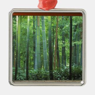 Okochi Sanso, Arashiyama, Kyoto, Japón 3 Adorno Cuadrado Plateado