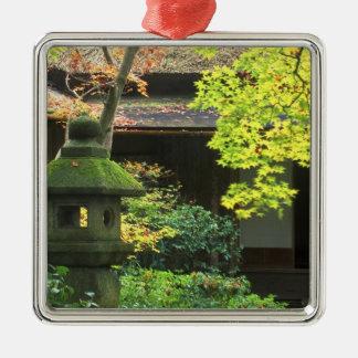Okochi Sanso, Arashiyama, Kyoto, Japón 4 Adorno Cuadrado Plateado