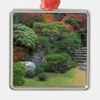Okochi Sanso, Arashiyama, Kyoto, Japón Adorno Cuadrado Plateado