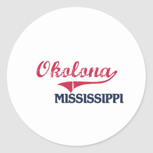 Okolona Mississippi City Classic Classic Round Sticker