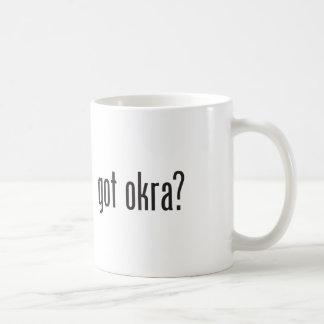 okra conseguido taza básica blanca