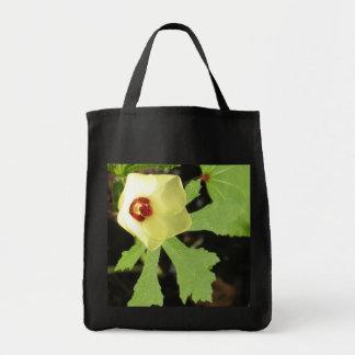 Okra Flower Grocery Tote Bag