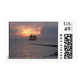 Okracoke Tall Ship Postage Stamps