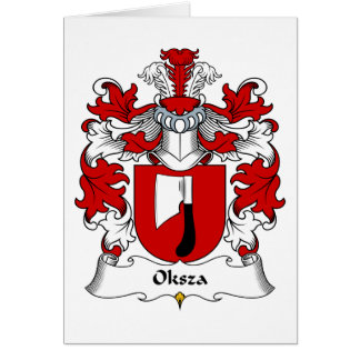 Oksza Family Crest Greeting Card