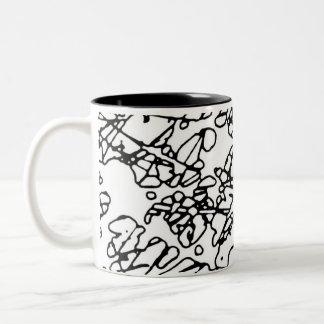 okta three Two-Tone coffee mug
