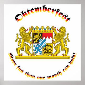 Oktemberfest con los mayores brazos bávaros impresiones