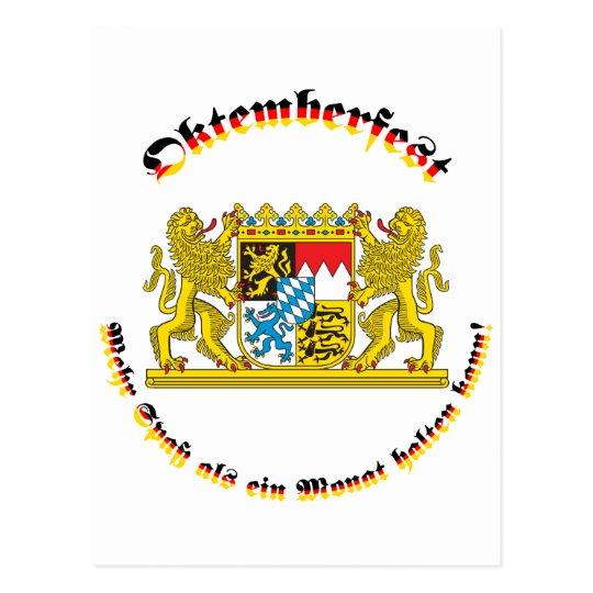 Oktemberfest mit bayrischem Grosswappen Postcard