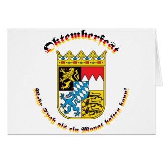 Oktemberfest mit bayrischem Wappen Card