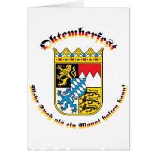 Oktemberfest mit bayrischem Wappen Greeting Card