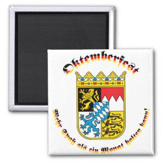Oktemberfest mit bayrischem Wappen Magnet