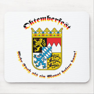 Oktemberfest mit bayrischem Wappen Mouse Pad