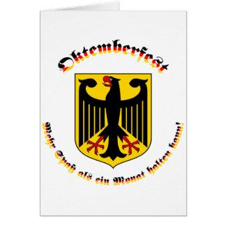 Oktemberfest mit deutschem Wappen Card