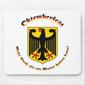 Oktemberfest mit deutschem Wappen Mouse Pad