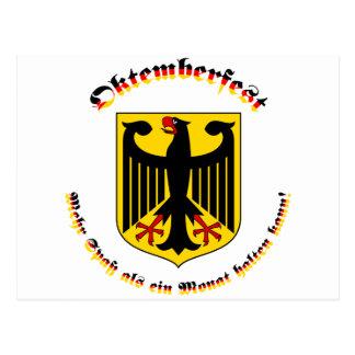 Oktemberfest mit deutschem Wappen Postcard