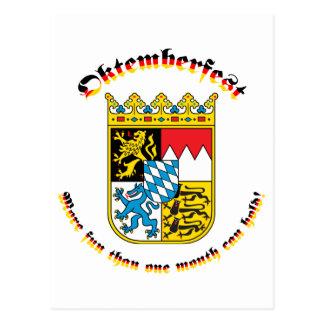 Oktemberfest with Bavarian Arms Postcard