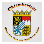 Oktemberfest with Bavarian Arms Poster