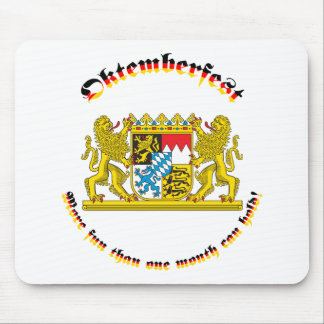 Oktemberfest with Bavarian Greater Arms Mouse Pad