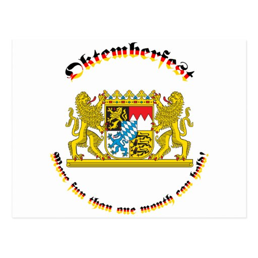 Oktemberfest with Bavarian Greater Arms Post Cards