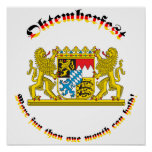 Oktemberfest with Bavarian Greater Arms Poster
