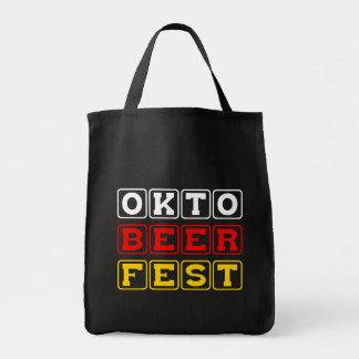 Oktobeerfest: Festival alemán de la cerveza de Okt Bolsa Tela Para La Compra