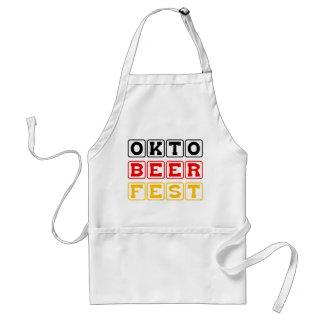 Oktobeerfest Festival alemán de la cerveza de Okt Delantal