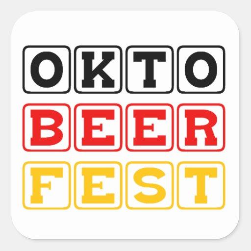 Oktobeerfest: Festival alemán de la cerveza de Pegatina Cuadrada