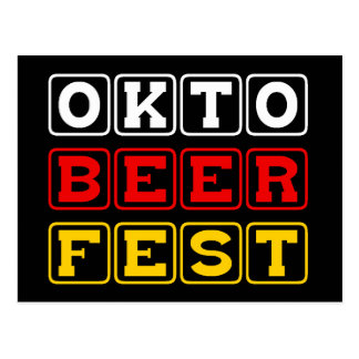 Oktobeerfest: Festival alemán de la cerveza de Tarjeta Postal