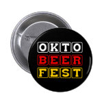 Oktobeerfest: Oktoberfest German Beer Festival Button