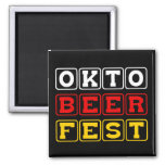 Oktobeerfest: Oktoberfest German Beer Festival Refrigerator Magnet