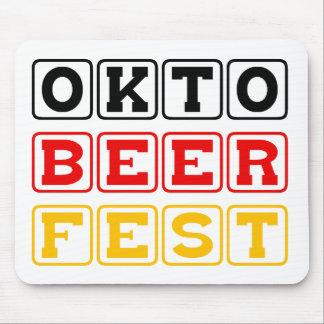 Oktobeerfest: Oktoberfest German Beer Festival Mouse Pad