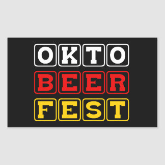 Oktobeerfest: Oktoberfest German Beer Festival Rectangular Sticker