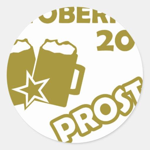 ¡Oktobefest Prost 2013! Etiquetas Redondas