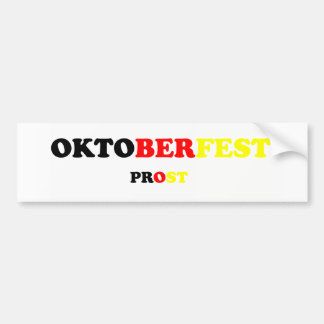Oktober Fest Prost Car Bumper Sticker