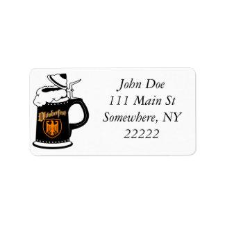 Oktoberest Beer Stein Address Label